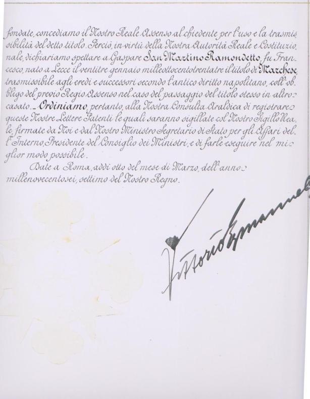 Investitura Marchese Gaspare San Martino Pardo (2-3)