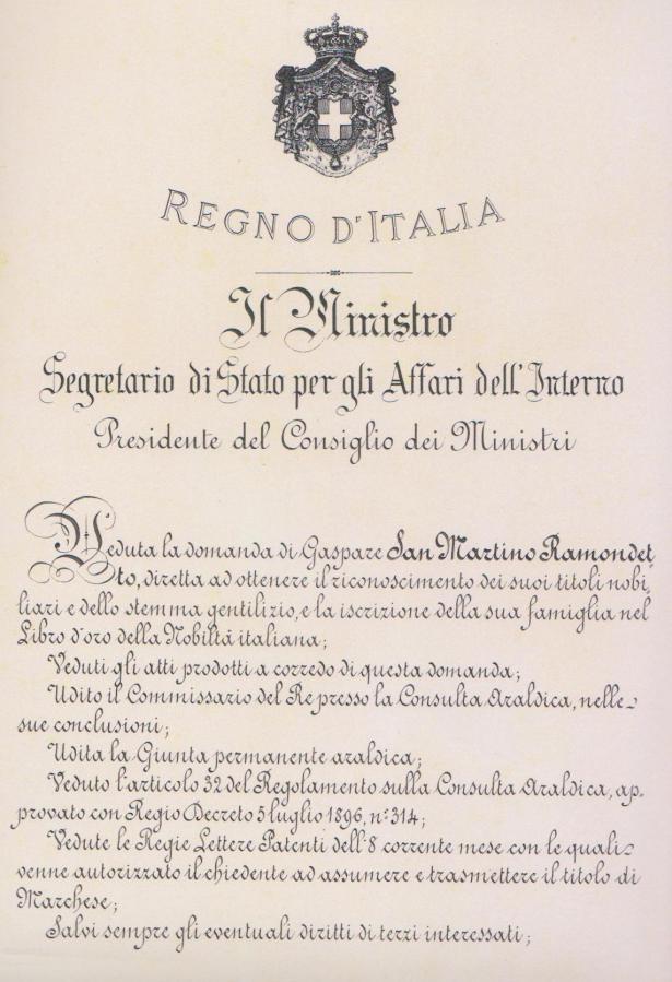 Investitura Principe Gaspare San Martino Pardo (1-2)