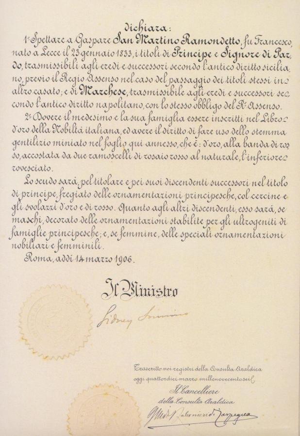 Investitura Principe Gaspare San Martino Pardo (2-2)