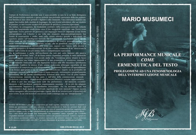 La performance musicale come ermeneutica del testo (copertina)