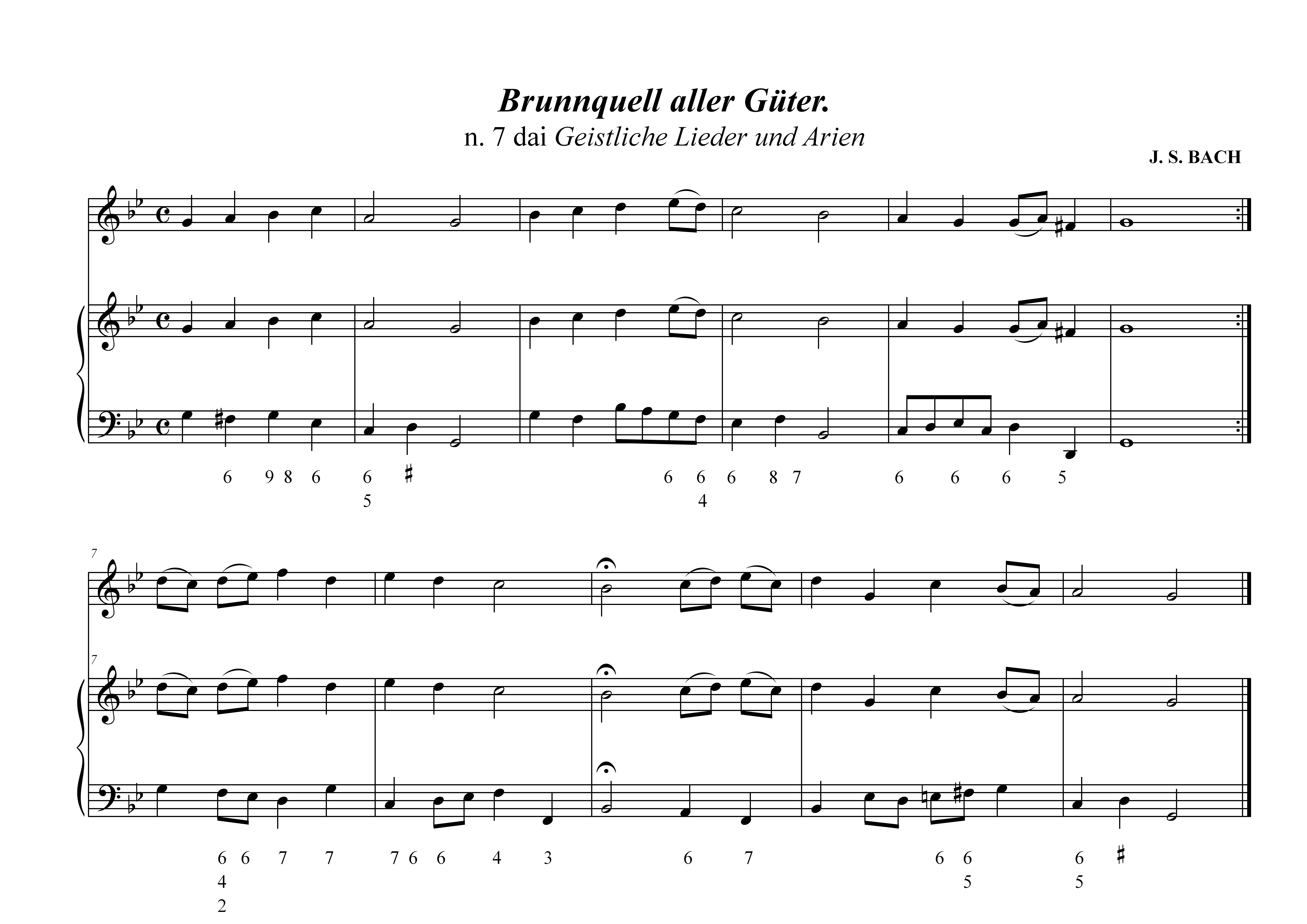 bc - Bach n. 7 Canti sacri - II fase (raddoppio canto)