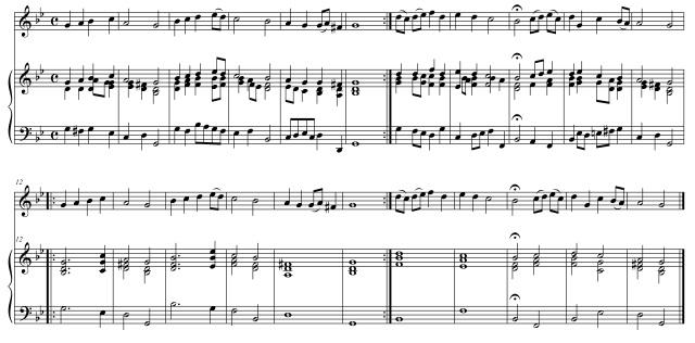riduzione armonico-accordale Canto n. 7